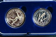 Italy –2005 - 5 and 10 Euro commemorative coins - 'Turin Winter Olympic Games 2006' – 3rd issue (2 coins) – Silver