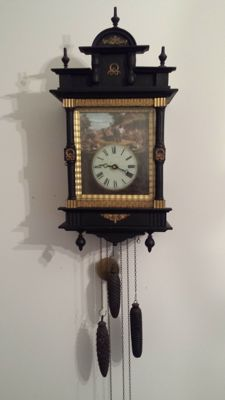 Rare and antique Black Forest clock with carillon and melody - 3 weights - Circa 1880 - Germany.