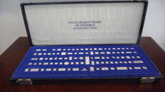 The 100 greatest stamps of the world  sterling silver miniature collection Franklin Mint 1982