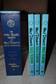 Carl Barks Library of Uncle Scrooge Vol.5 - 3 books in slipcase - 3xhc - 1st print (1986)