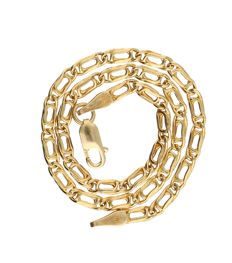 14 kt yellow gold curb link bracelet with lobster clasp - 1.5 grams - 19 cm