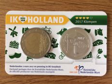 "The Netherlands - Holland coin card 2017 ""Clogs"" with silver medal"