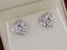 Earrings in White Gold + Diamonds 0.38 ct