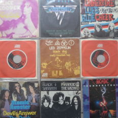 "Lot of 9 Hard-Rock 7""inch Singles"