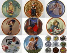 Collection of 17 Decorative Plates - Bing & Grondahl, KPM, Knowles, Reco