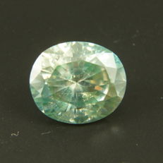 light Blue-greenish Diamond of 1.73ct
