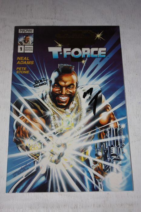 Now Comics - Mr T And The T-Force #1 - Gold Advance Limited Edition - Signed by Mr. T for sale
