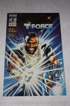 Now Comics - Mr T And The T-Force #1 - Gold Advance Limited Edition - Signed by Mr. T - (1993)