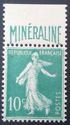 France 1924-26 - Mineraline, 10c. green - Yvert no. 188A