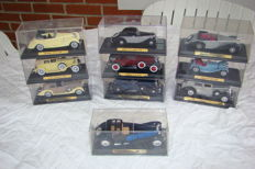 "Atlas-Solido - Scale 1/43 - Lot with 10 models of the Collection "" Voitures d'Exception "" -  30's  ."