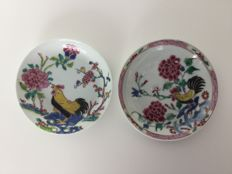 Two porcelain saucers - China - 18th century