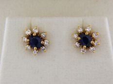 Earrings in 18 kt GOLD + Sapphires + Diamonds