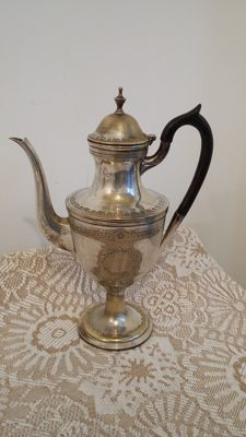 Old sheffield george111 tea pot silver plated made in england.
