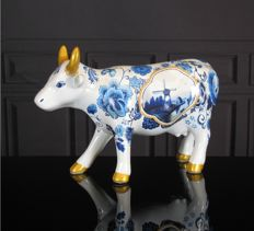 CowParade - Blue Cow Bone China Medium - Judith Elsinghorst-Kratz