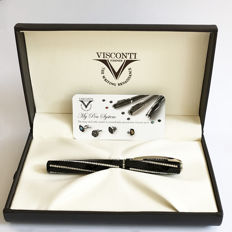 Visconti - Divina Royale - Rollerball pen - Black CT with Swarovski crystals