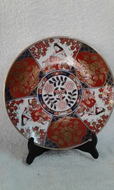 Porcelain Imari plate - Japan - 2nd half 20th century