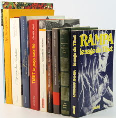 Lot with 10 books about Tibet in French - 1977 / 2008