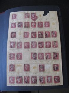 Royaume unis 1845/1980 - collection de timbres dont planchage