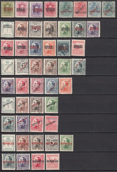 Spain 1931 - Republican Local Issue stamps from Barcelona, Madrid, and Valencia - Edifil no. 1/4 , 5/17, 18/28, 29/32, 1/8, 1/9.