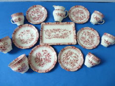14 delig porseleinen Feltmann Weiden servies - Bavaria W.Germany