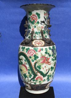Nanking vase with dragon and phoenix – China – early 20th century