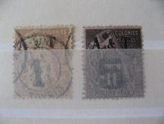 Ex-French Colony - collection of stamps including cochinchine, Annam, and Tonkin, Obock.