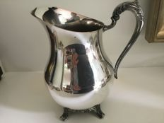 Large silver plated water jug, England 60 's