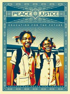 Shepard Fairey (OBEY) - Peace and Justice Haiti