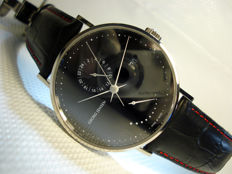 Georg Jensen Automatic wrist watch black dial, date Power reserve indicator 42mm