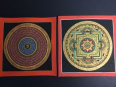 Two Thangkas Mandala - Tibet - late 20th