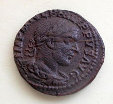 Roman Empire – AE Sestertius of emperor Philip I (244-249 A.D.). Struck in the province of Moesia Superior, Viminacium.