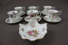 Royal Albert  - Royal Canterburry - Hammersley - cup and dishes and bonbonniere