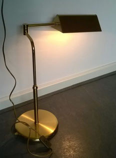 Beautiful authentic brass desk lamp - second half of the 20th century - the Netherlands