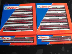"""Roco H0 - 44080/-87/612- 10 passenger cars """"Le Capitole"""" of the SNCF"""