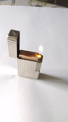 lighter S.T.Dupont - Paris line 1 b r silver plated - works