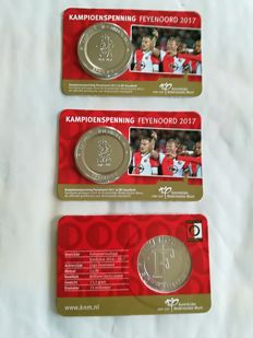 Netherlands - Medal  'Feyenoord Kampioen 2017' (Feyenoord Champion 2017) (3 pieces) in coin cards