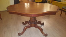 William III mahogany coffee table - end of the 19th century