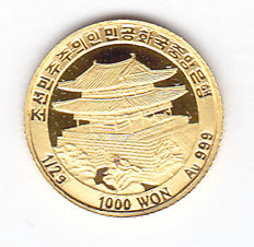North Korea – 1000 won 2008 – gold