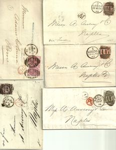Great Britain, 1850/1950 - 8 letters, 1 envelope, 1 frontispiece.