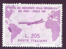 Republic of Italy – 1961 – President Gronchi's Visit to South America – Sassone catalogue no. 921
