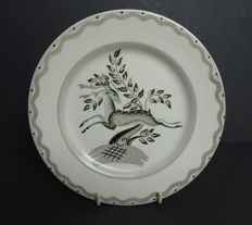 Clarice Cliff Art Deco Plate - Designed by Billie Waters