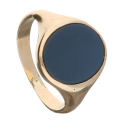 Ring - 14 kt yellow gold - Layered stone - Size 18.5 mm