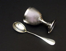 Egg cup with spoon, France, XIX/XX c.