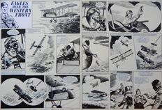 Lacey, Bill - 2x Original page (521-01 + 521-02) - Eagles over the Western Front - (1973)