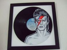 David Bowie Painted On Lp