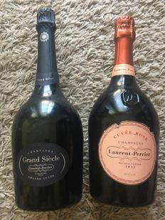 Laurent Perrier Grand Siecle x 1 & Rose - 2 bottles (75cl)