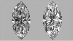 Pair of Marquise 1.00 ct total  D IF  with GIA Certification BJ-477-815