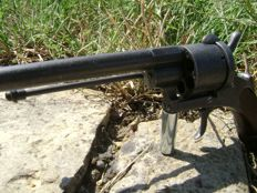 Pinfire revolver (called of transition) large calibre (12 mm) often for military use