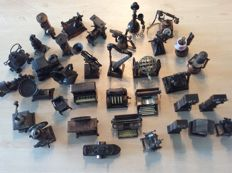 Collection of 35 pencil sharpeners in the form of miniatures