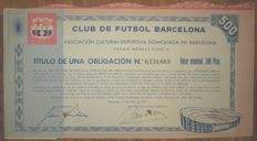Spain - football club FC Barcelona - Obligation Bond 500 Pesetas 1957
